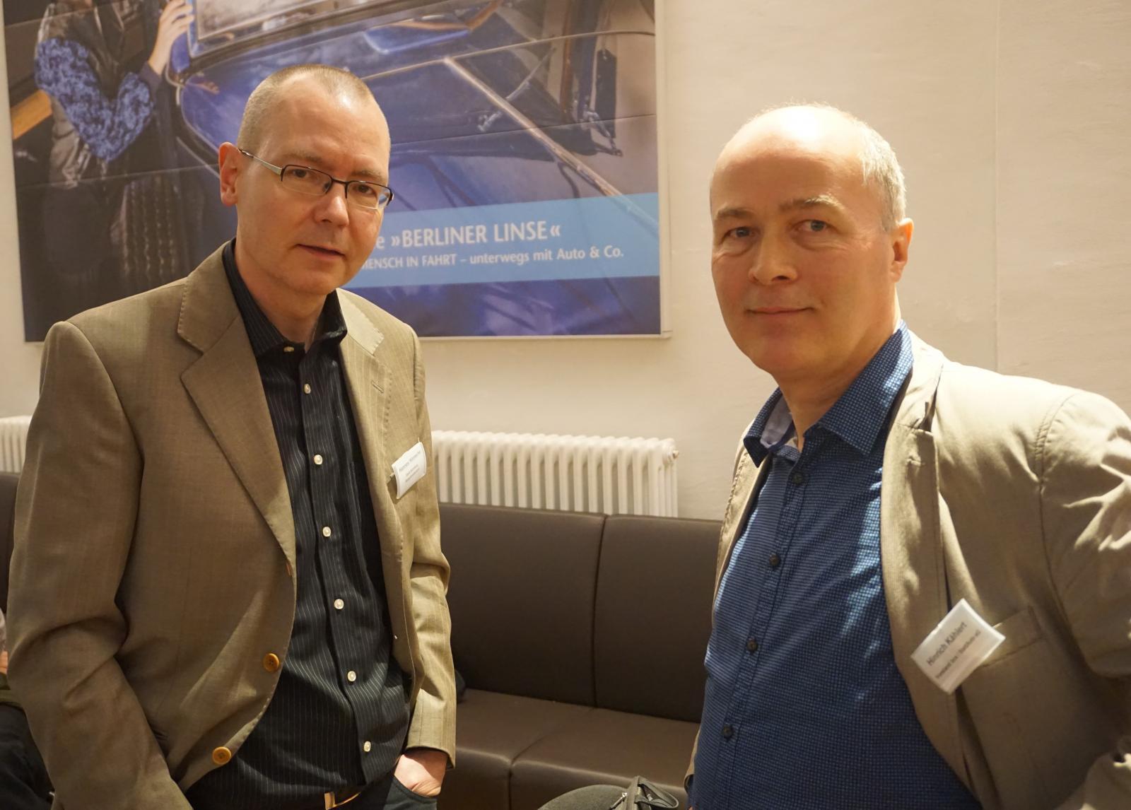 Hannes Hinnecke (l.) und bcs-Vorstand Hinrich Kählert (r.)